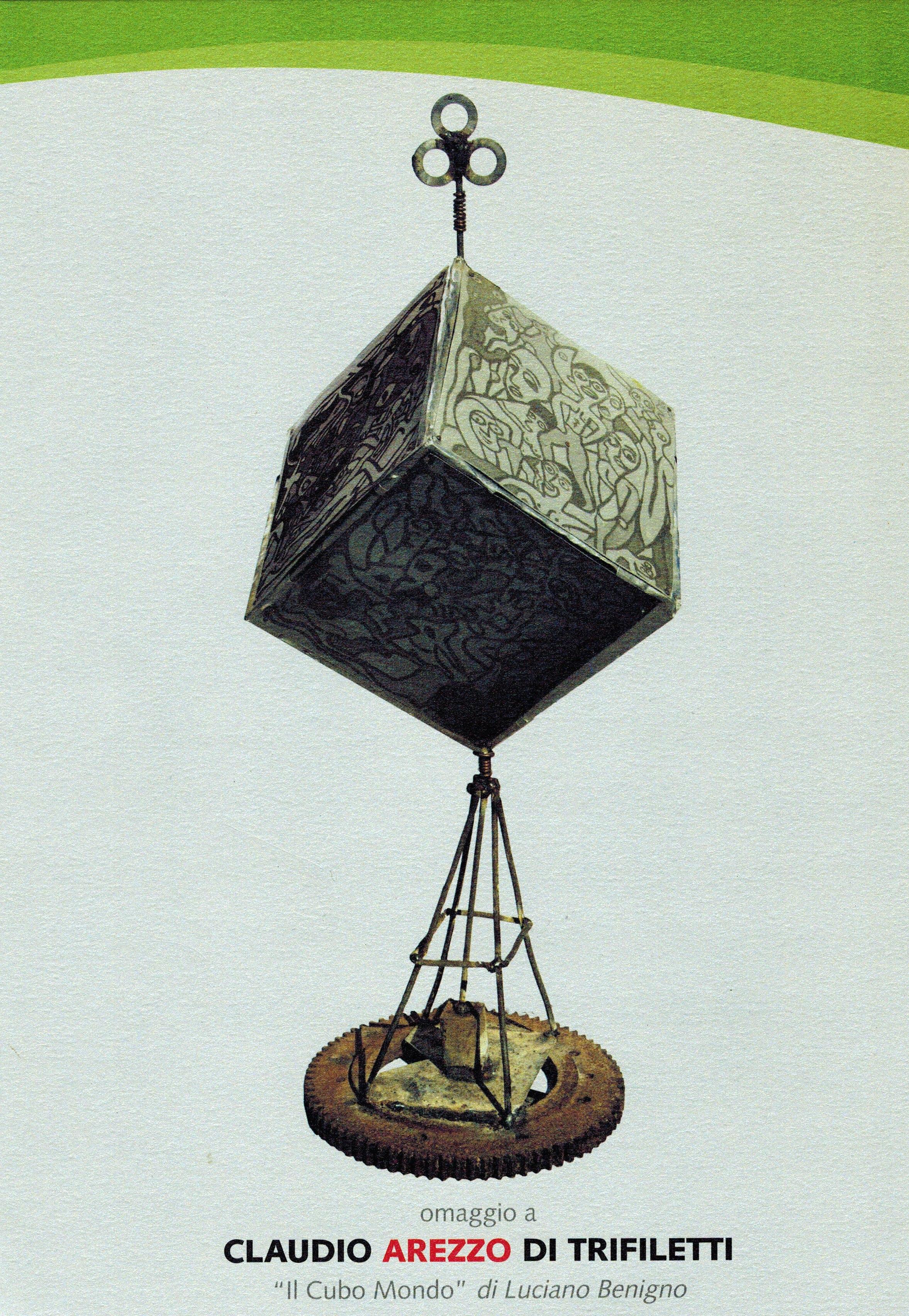 """""""Il Cubo Mondo"""" di Luciano Benigno omaggio a Claudio Arezzo di Trifiletti"""