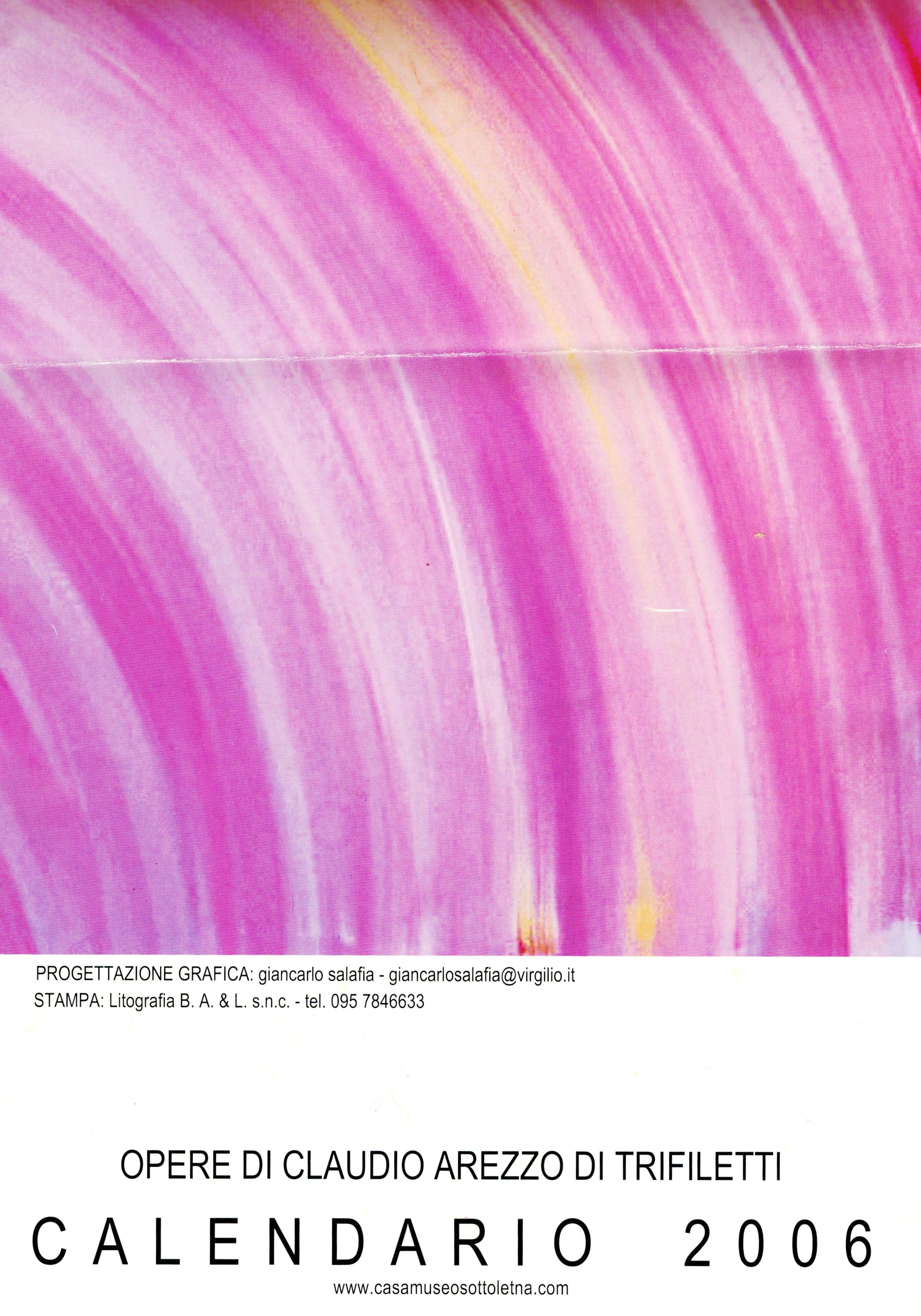 CLAUDIO AREZZO DI TRIFILETTI 2006 CALENDARIO