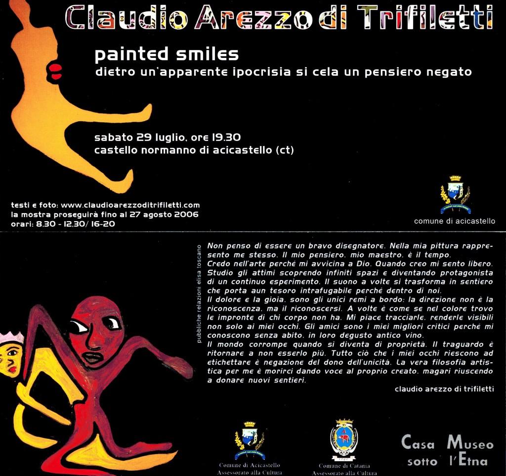 CLAUDIO AREZZO DI TRIFILETTI CASTELLO NORMANNO DI ACICASTELLO PAINTED SMILES