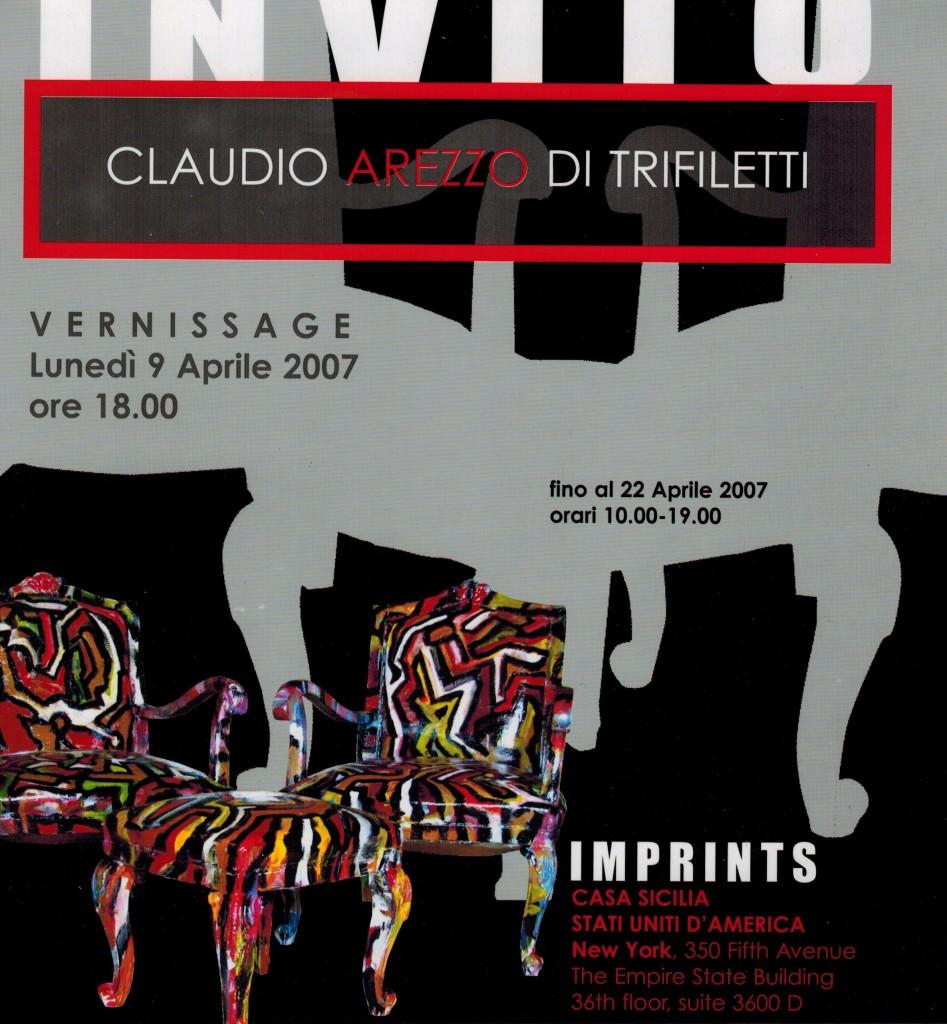 IMPRINTS CLAUDIO AREZZO DI TRIFILETTI