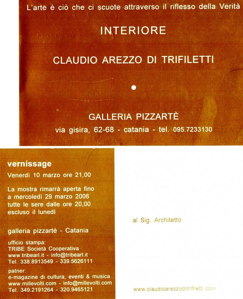 CLAUDIO AREZZO DI TRIFILETTI - INTERIORE