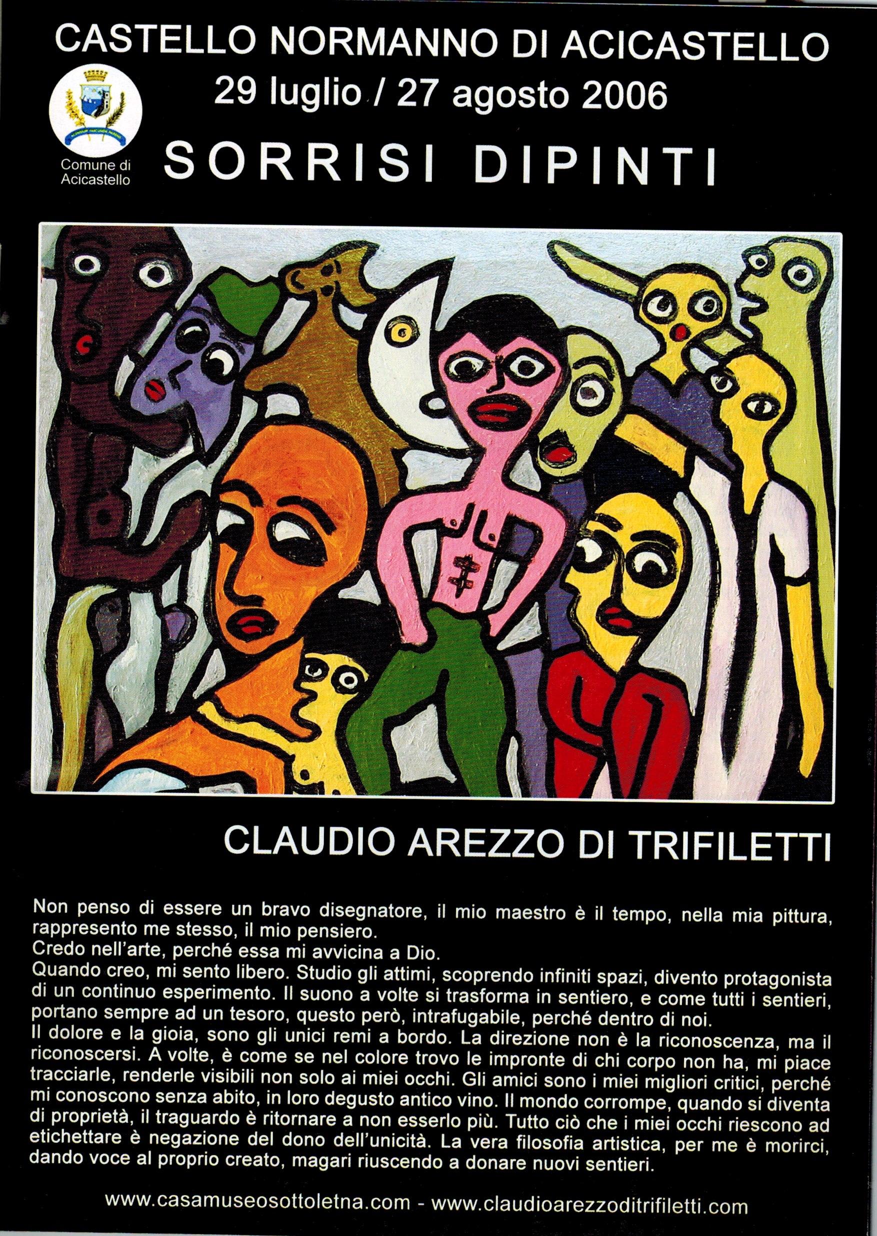 29 luglio 29 agosto 2006 sorrisi dipinti claudio arezzo di trifiletti