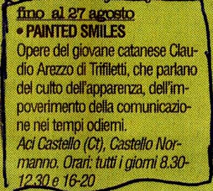 vivere - 351 - 2006 painted smiles claudio arezzo di trifiletti 2006