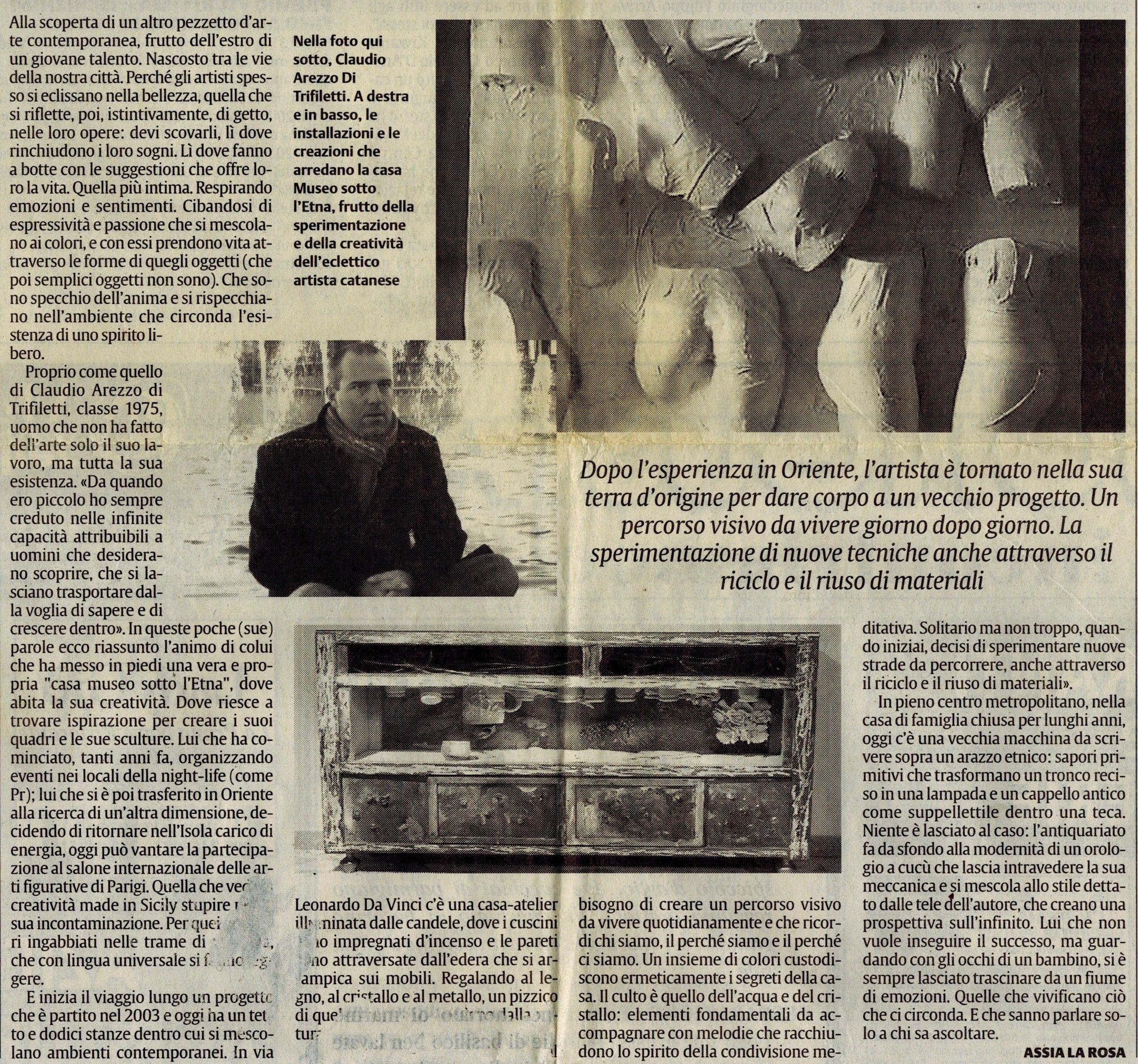 musei metropolitani. ha trovato un tetto il progetto culturale di Claudio Arezzo di Trifiletti