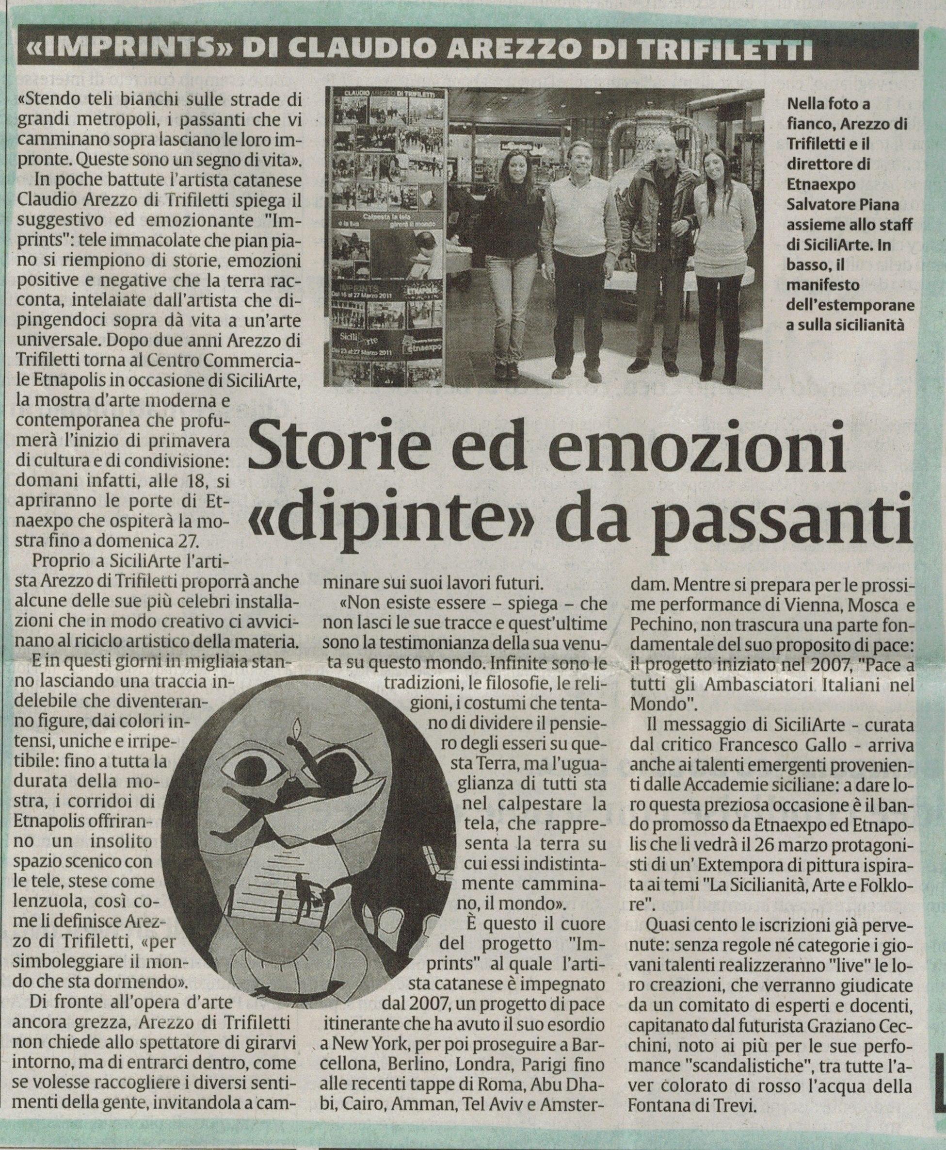 la sicilia martedi 22 marzo 2011