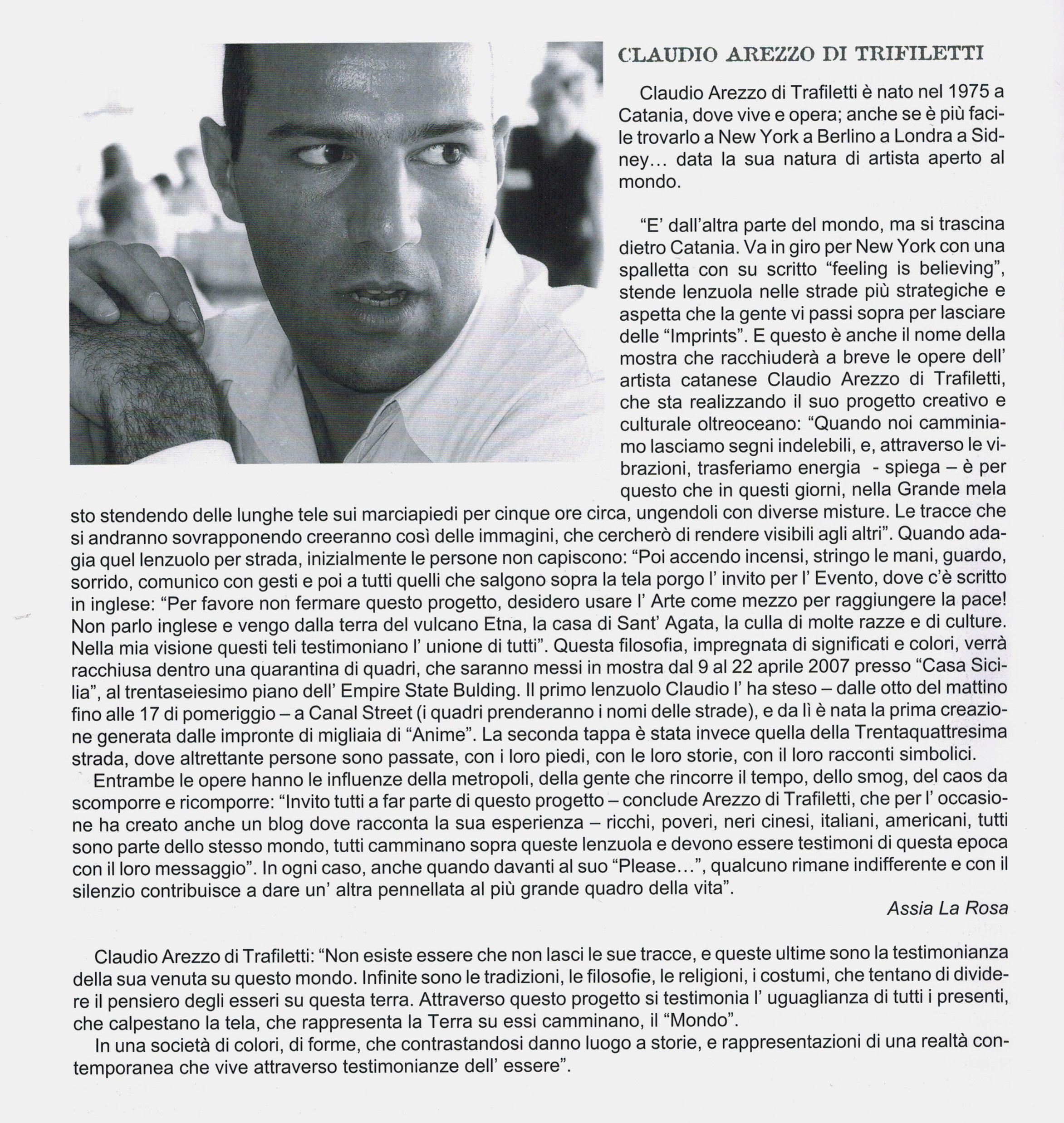 """VERTICALISMO - CATANIA 10 OTTOBRE - 1 NOVEMBRE 2009 """"LE CIMINIERE"""""""
