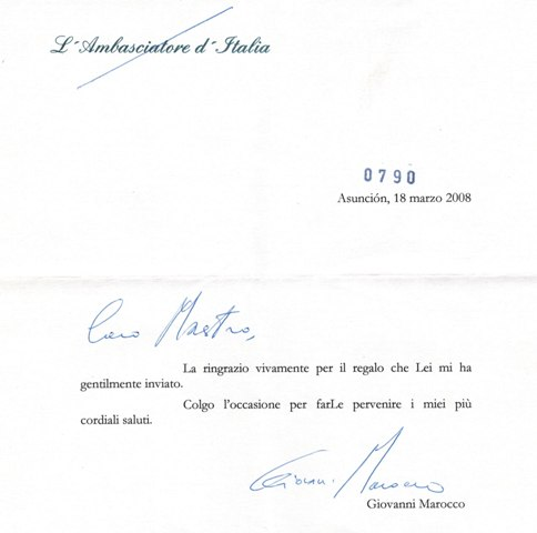 Ambasciatore Asunciòn